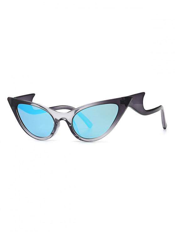 fancy Vintage Wave Design Outdoor Sunglasses - LIGHT SKY BLUE