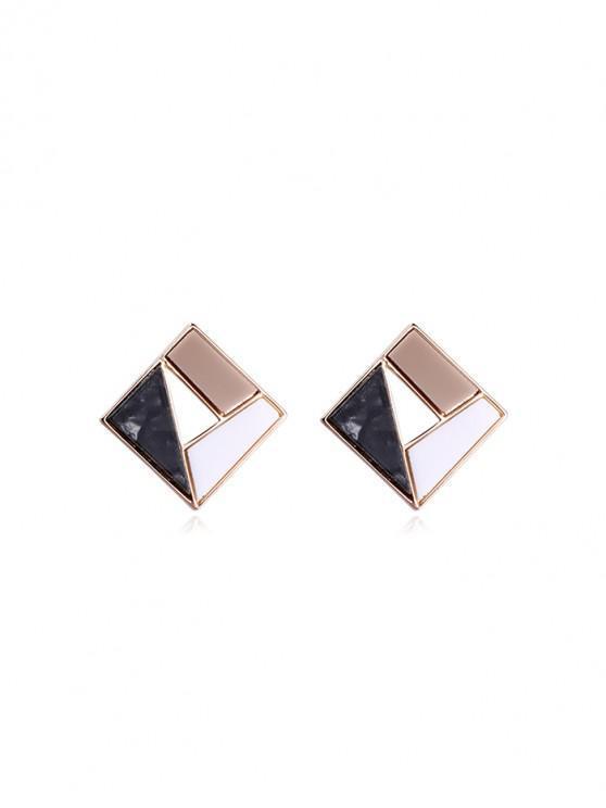 buy Matching Hollow Geometric Stud Earrings - MULTI-A