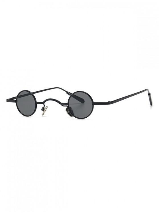 buy Vintage Metal Small Round Sunglasses - BLACK