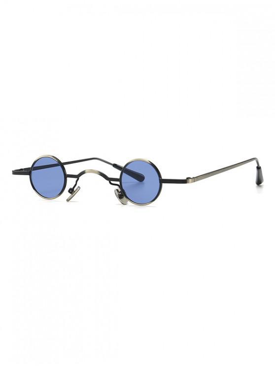 hot Vintage Metal Small Round Sunglasses - LIGHT BLUE