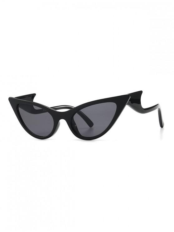 fancy Vintage Wave Design Outdoor Sunglasses - BLACK
