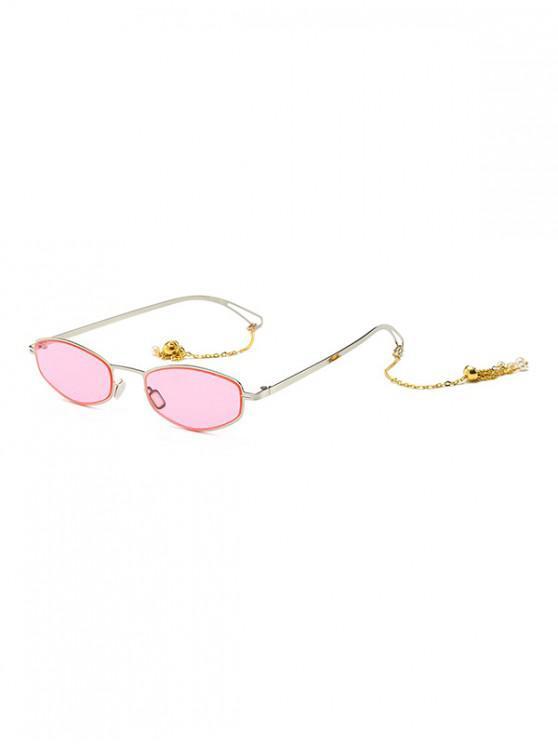 fancy Street Chain Vintage Sunglasses - PINK