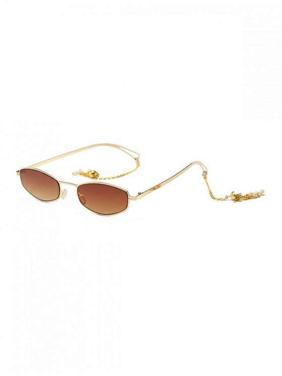 shop Street Chain Vintage Sunglasses - COFFEE