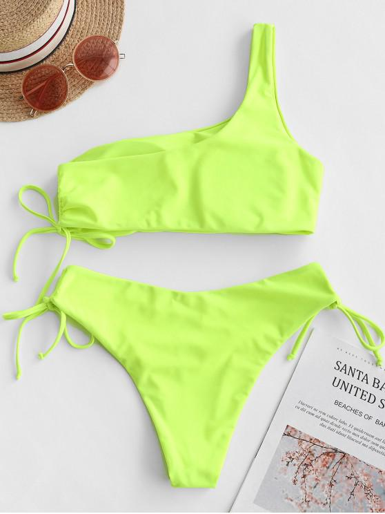 Maillot Zaful De Asymétrique HauteChartreuse M Bain Bikini Taille w8nN0vm