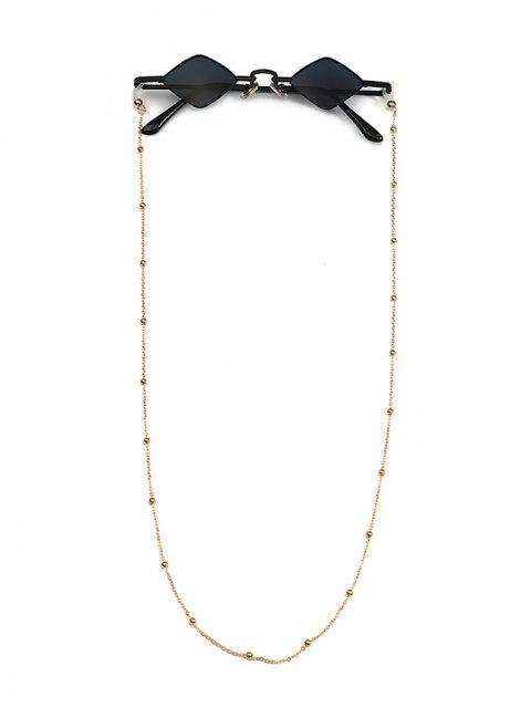 الخرز سلسلة حبل خمر المعين النظارات الشمسية - أسود  Mobile