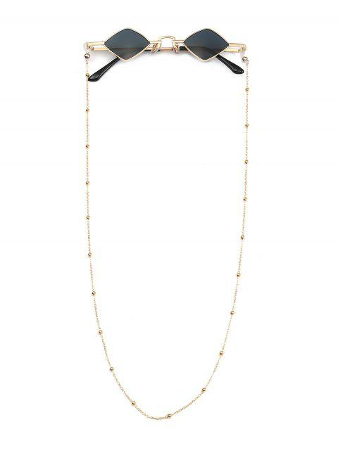 Lunettes de Soleil Vintage Perle Losange à Chaîne - Gris  Mobile