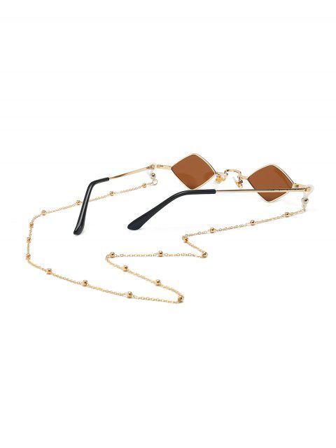 Perlen- Seil -Kette- Rhombus- Alte Sonnenbrille - Kaffee  Mobile