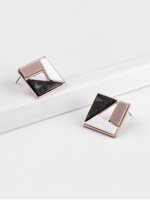 Геометрические Ажурные Серьги-пусеты - Многоцветный-A  Mobile