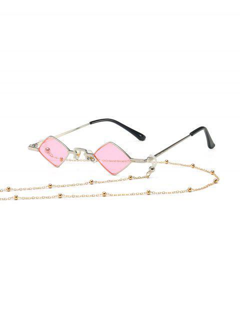 Perlen- Seil -Kette- Rhombus- Alte Sonnenbrille - Rosa  Mobile
