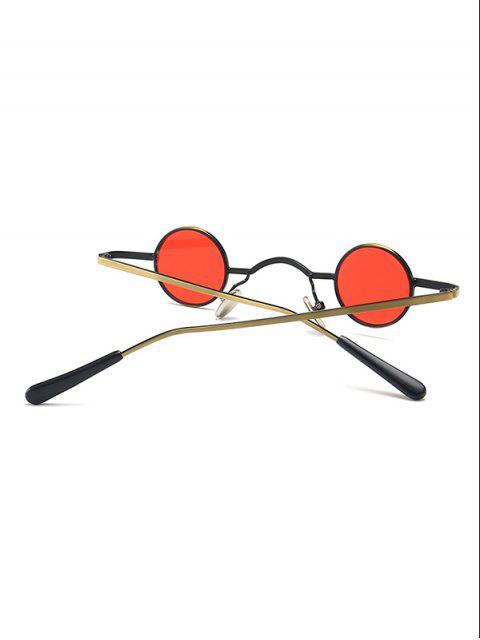 Lunettes de Soleil Rondes Vintages en Métal - Rouge  Mobile