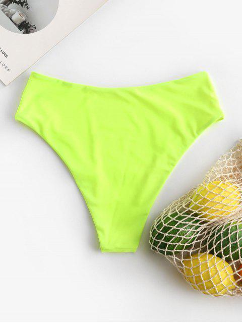 ZAFUL Высокая талия Высокие ноги Бикини Трусы - Желто-зеленый L Mobile