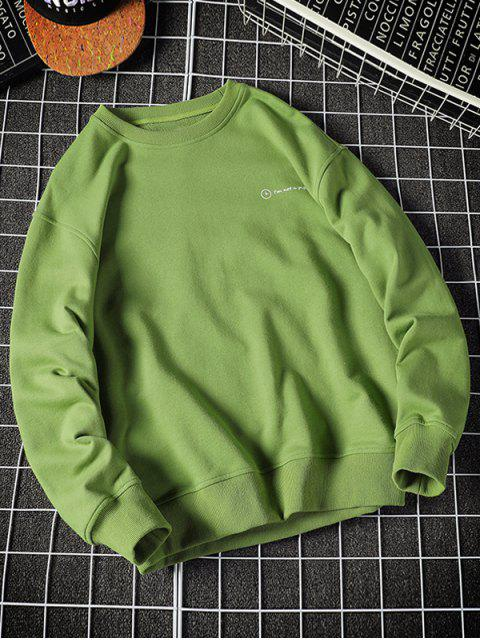 online Drinking Men Letter Graphic Print Pullover Casual Sweatshirt - GREEN APPLE 2XL Mobile