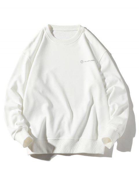 飲酒男子信圖形打印套衫休閒運動衫 - 白色 3XL Mobile