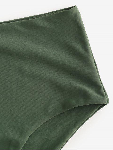 ZAFUL Calcinhas de Biquíni de Cintura Alta - Verde de Camuflagem L Mobile
