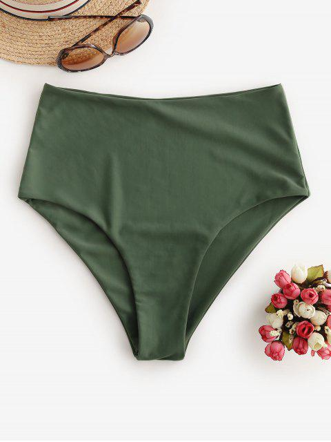 ZAFUL Einfache Bikini- Bottom mit Hoher Taille - Tarnanstrich Grün S Mobile