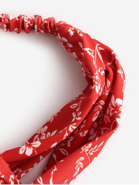 ZAFUL Цветочный принт Твист Пляжная Головная Повязка - Красный  Mobile