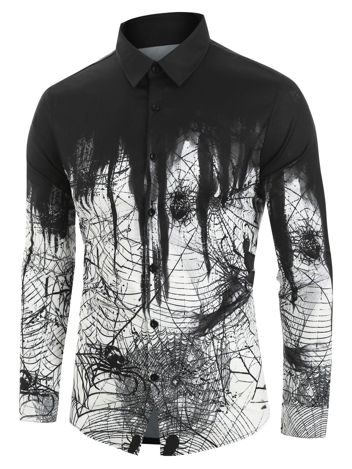 Spider Printed Long Sleeves Shirt thumbnail