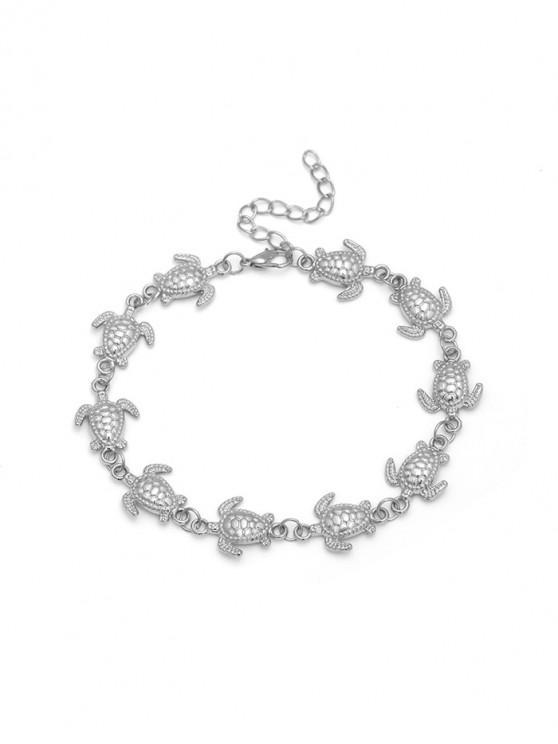 women's Tortoise Decoration Alloy Chain Anklet - SILVER