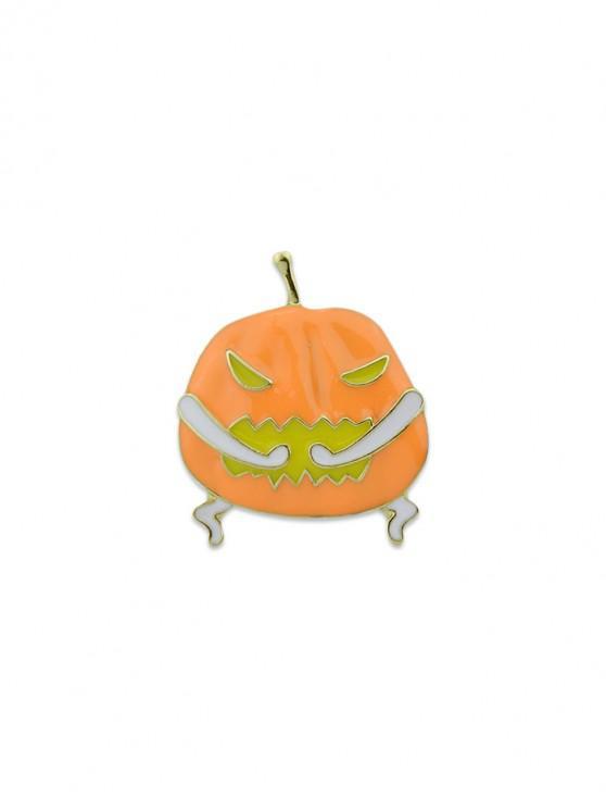 online Halloween Pumpkin Decoration Brooch - DARK ORANGE
