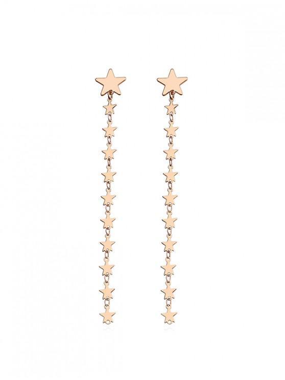 affordable Star Design Long Dangle Earrings - GOLD