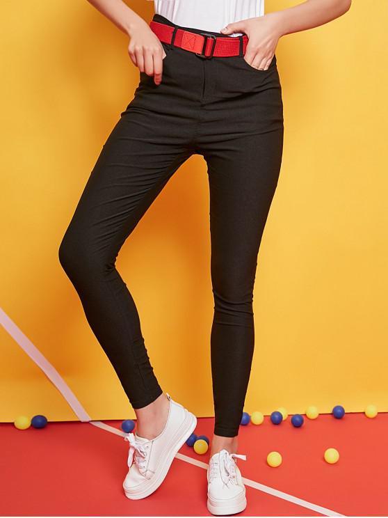 ZAFUL Pockets - Enge Hose mit hoher Taille - Schwarz L