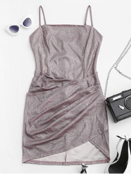 sale Metallic Glittery Draped Cami Dress - WISTERIA PURPLE M