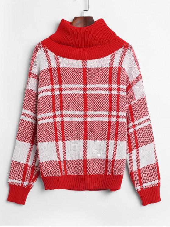 outfits Turtleneck Plain Drop Shoulder Jumper Sweater - MULTI-A ONE SIZE