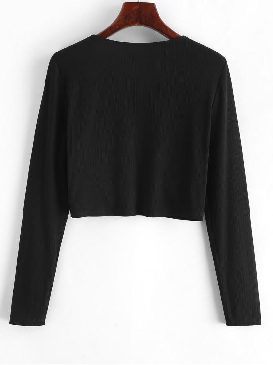 Crop M Zaful CroiséNoir Crop Top Top Zaful UMGSVqzLp