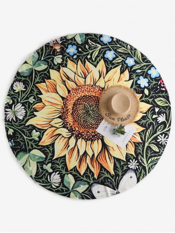 affordable ZAFUL Sunflower Print Beach Throw - MULTI-A ONE SIZE