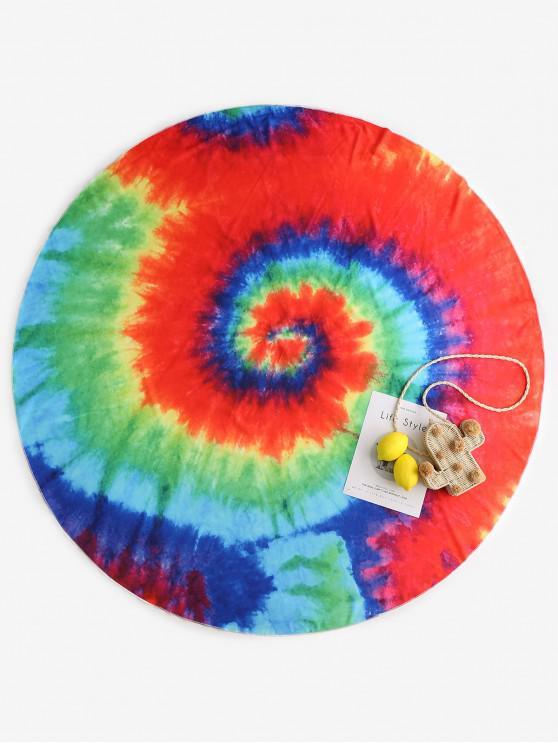 fancy ZAFUL Spiral Tie Dye Print Beach Throw - MULTI-A ONE SIZE