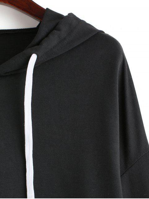 模糊豹紋亮片吊肩連帽衫 - 多-A XL Mobile