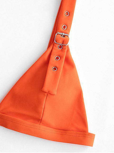 ZAFUL搭扣高腿夾克比基尼泳裝 - 橙子 M Mobile