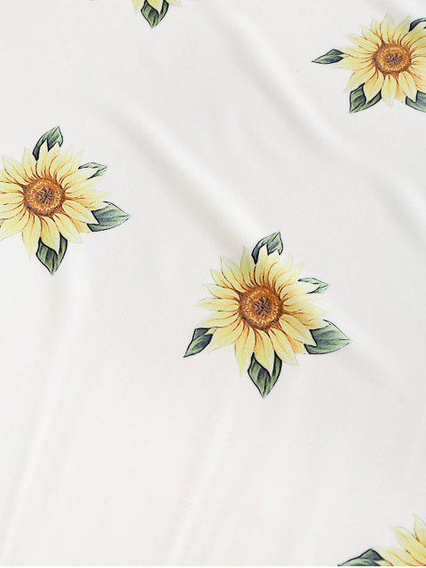 sale ZAFUL Sunflower Round Beach Throw - WHITE ONE SIZE Mobile