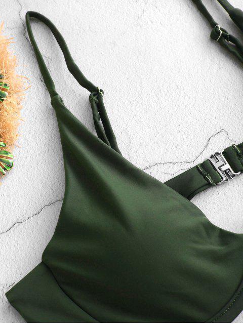 ZAFUL Tiefe Bügel- Hochdrückender Bikinioberteil - Tarnanstrich Grün M Mobile
