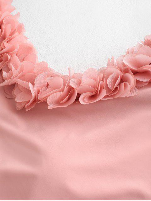 ZAFUL花瓣單肩比基尼泳裝 - 櫻花粉紅色 L Mobile