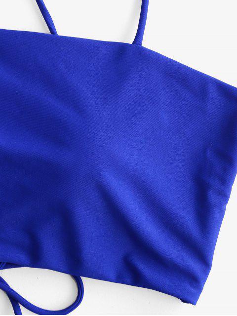 ZAFUL encaje arriba rellenado del traje de baño de Tankini de Control de Abdomen - Azul Cobalto L Mobile