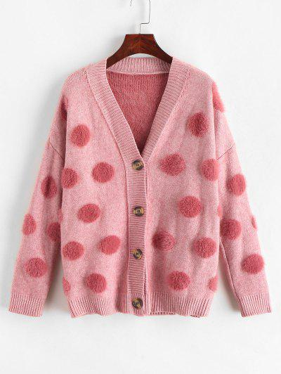 Round Pattern Fluffy Cardigan  - from $28.99