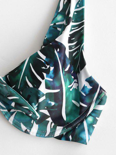 ZAFUL Palm Push Up Tied Bikini Swimsuit, Multi-a