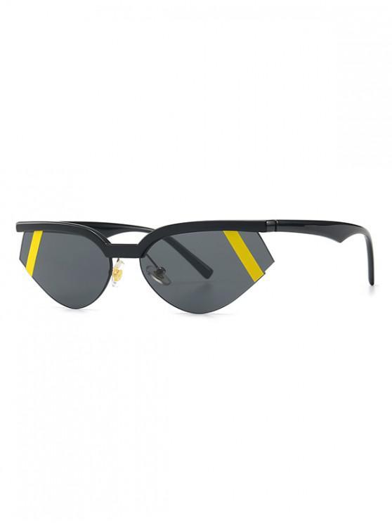 Gafas de sol semi sin montura Catty Eye - Amarillo