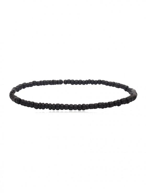 sale Simple Beaded Anklet - BLACK