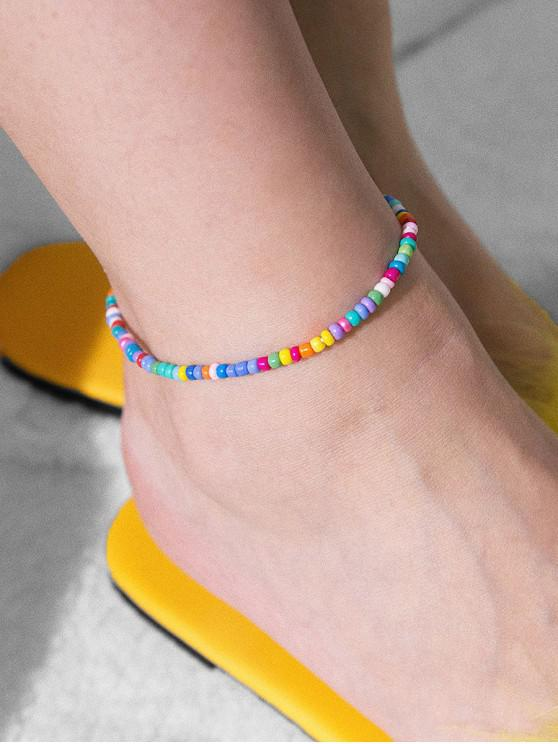 new Simple Beaded Anklet - MULTI-A