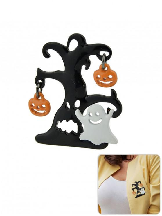 new Halloween Pumpkin Ghost Funny Brooch - BLACK
