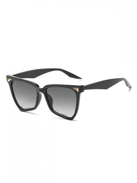 Gafas de sol anti UV con remache triangular irregular - Negro Regular