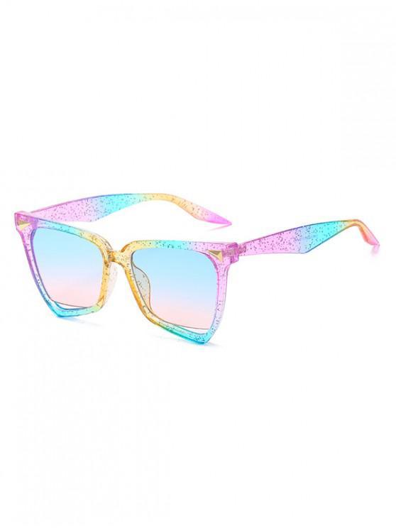 womens Irregular Triangle Rivet Anti UV Sunglasses - MULTI-B REGULAR