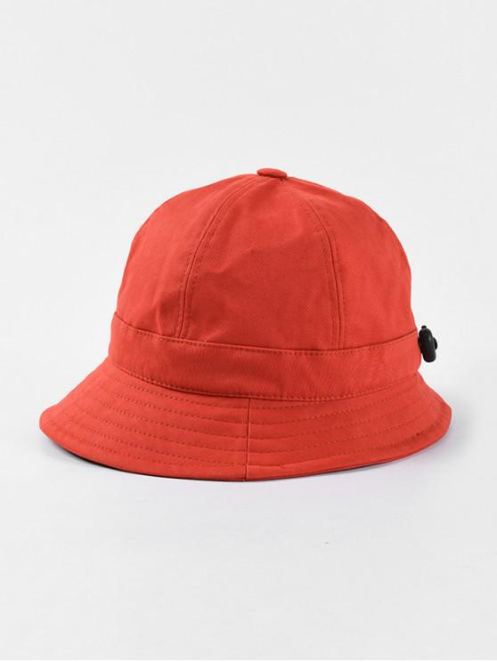 women's Adjustable Folding Round Bucket Hat - RED