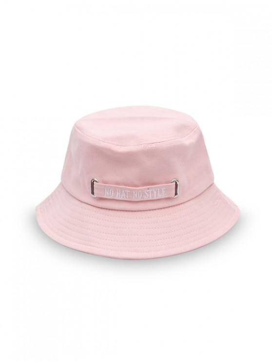 shops Casual Letter Embroidery Bucket Hat - PINK