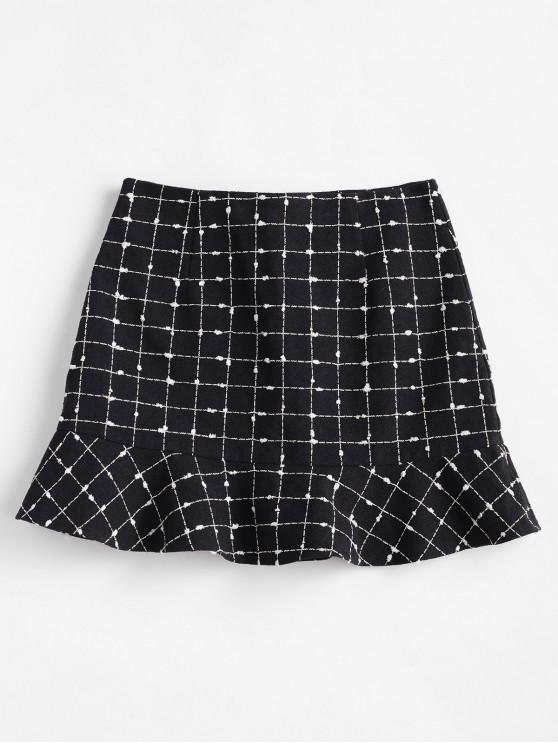buy ZAFUL Plaid Mini Mermaid Skirt - BLACK M