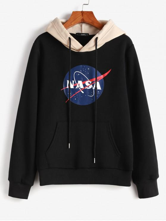 outfits ZAFUL Graphic Flocking Hoodie - BLACK S