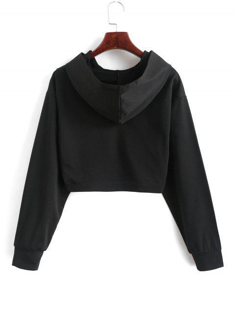 ZAFUL九分龍刺繡連帽衫 - 黑色 XL Mobile