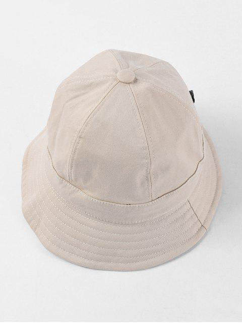 可調節折疊圓形水桶帽 - 米色  Mobile